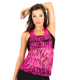 Adult Zebra Lace Tank Top - Style No N8756