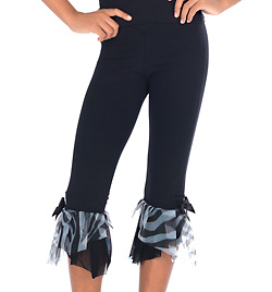 Child Capri Pant With Zebra Chiffon - Style No N8801Cx