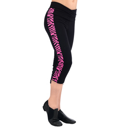 Child Capri Legging With Zebra Print  - Style No N8803C