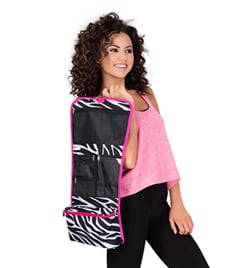 Zebra Print Cosmetic Hanging Bag - Style No NZ3424