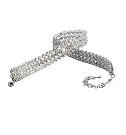 "3-Row Crystal 11"" Long Choker - Style No RU037"