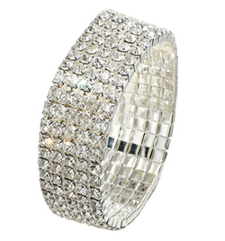 5-Row Crystal Stretch Bracelet - Style No RU046