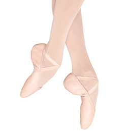 Child Leather Split-Sole Ballet Slipper - Style No S0203G