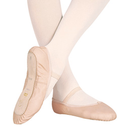 "Child ""Dansoft"" Leather Full Sole Ballet Slipper - Style No S0205G"