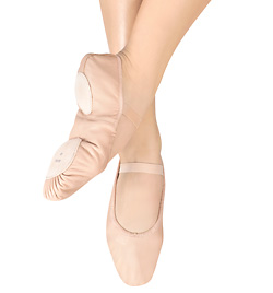 "Adult ""Dansoft"" Leather Split-Sole Ballet Slipper - Style No S0258L"