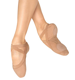 "Adult ""Pro Elastic"" Canvas Split-Sole Ballet Slipper - Style No S0621L"