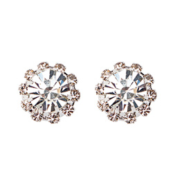 Starburst Rhinestone Earrings - Style No SBRE