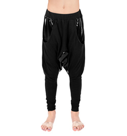 Child Pleather Accent Harem Pants - Style No SCOOPSC