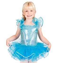 Child Flutter Sleeve Tutu Dress - Style No SK735