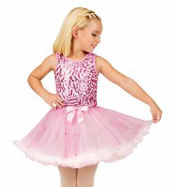 Child Pink Sequin Bodice Tank Tutu Dress - Style No SK927