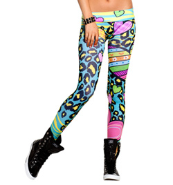 Adult Crazy Hearts Leggings - Style No SS7003