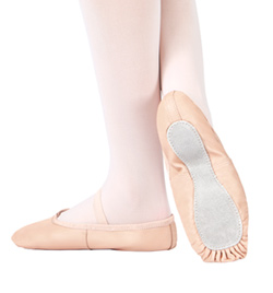 Child Economy Leather Full Sole Ballet Slipper - Style No T1000C