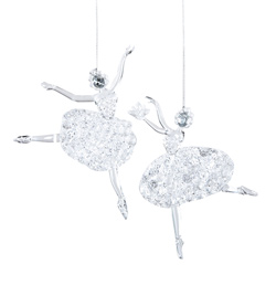 Clear Acrylic Ballerina Ornament - Style No T1057