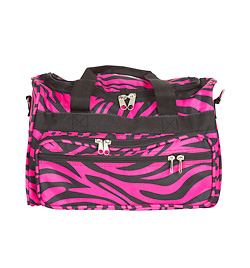 Multi Zipper Zebra Duffle Bag - Style No T13x