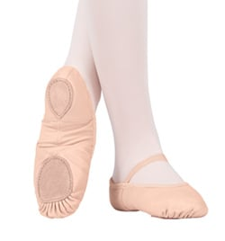 Adult Neoprene Arch Leather Split-Sole Ballet Slipper - Style No T2800