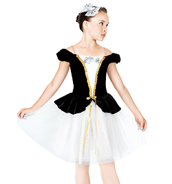 """Midnight Serenade"" Child Romantic Tutu Dress - Style No TH4005C"