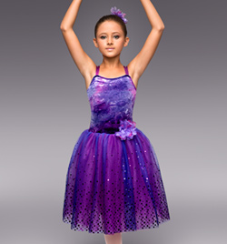 """Purple Mist"" Girls Romantic Tutu Dress - Style No TH4018C"