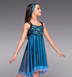 """Some Enchanted Evening"" Girls Lyrical Dress - Style No TH4020C"