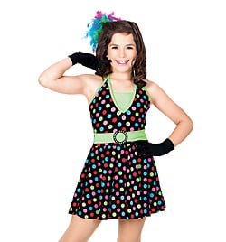 """Jump, Jive & Wail"" Child Halter Dress - Style No TH5000C"