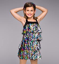 """So Sassy"" Child 4 Tier Sequin Dress - Style No TH5001C"