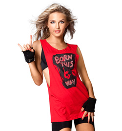 "Adult and Child ""Born This Way"" Bling Tank Top - Style No UC237x"