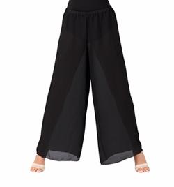 Child Black Palazzo Worship Pants - Style No WC100CBLK