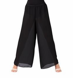 Plus Size Black Palazzo Worship Pant - Style No WC100PBLK
