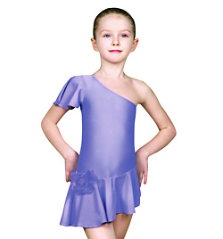 Child Asymmetric Ballroom Dress - Style No Y1710P