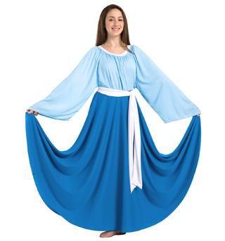Girls Single Layer Worship Circle Skirt - Style No 0501