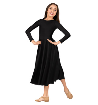 Girls Worship Long Sleeve Dance Dress - Style No 0512