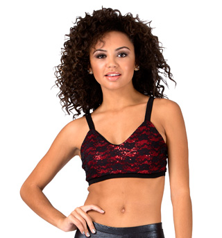 Adult Sequin and Lace Bra Top - Style No 072989A