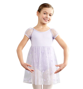 Child Empire Puff Sleeve Dress - Style No 10126C