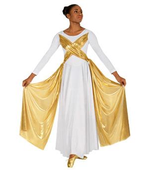 Adult Metallic Overlay Dress - Style No 14124XX