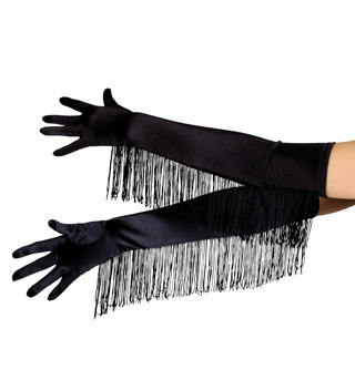 Satin Opera Length Glove with Fringe - Style No 2051x
