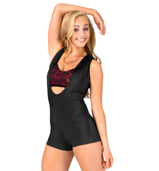 Adult Tank Open Front Unitard - Style No 214010A
