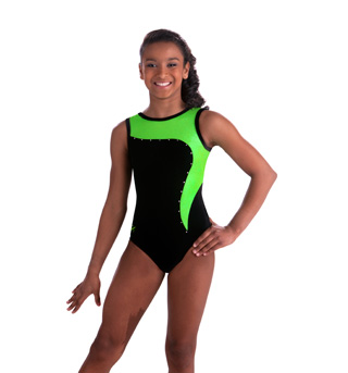 Adult Green Apple and Black Leotard - Style No 3581