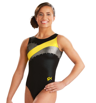 Child Modern Jeweled Gym Tank Leotard - Style No 3657C
