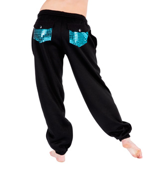Adult Metallic Pocket Sweatpants - Style No 3800SIL