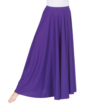 Adult Plus Size Double Layer Worship Circle Skirt - Style No 502XX