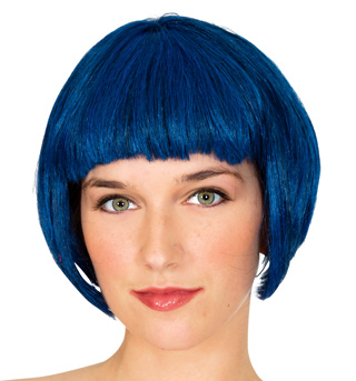 Blue Super Model Wig - Style No 50428