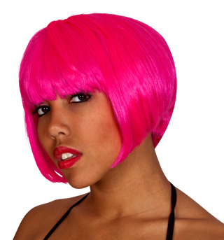 Pink Super Model Wig  - Style No 50496x