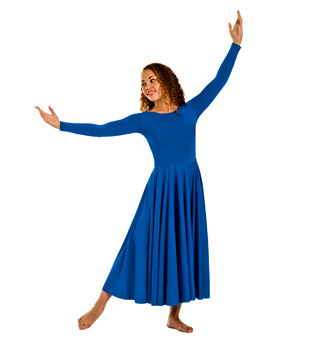 Adult Plus Size Worship Long Sleeve Dance Dress - Style No 512XX
