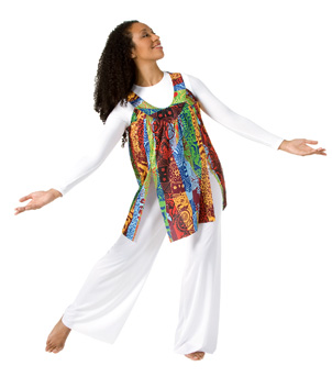 Tribal Praise Tunic Pullover - Style No 571x