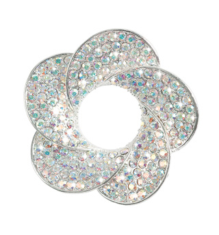 Rhinestone Flower Brooch - Style No 5PBx