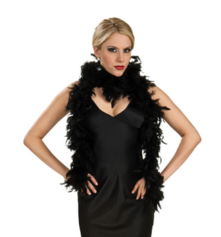 Black Feather Boa  - Style No 7101