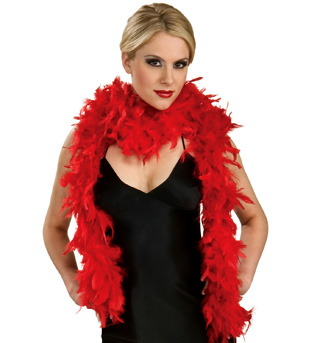 Red Feather Boa  - Style No 7102x