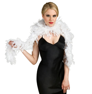 White Feather Boa  - Style No 7106WHT