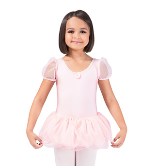 Girls Puff Sleeve Tutu Dress - Style No 734C