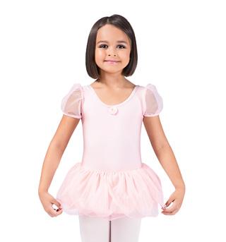 Girls Puff Sleeve Tutu Dress - Style No 734C