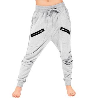 Adult Unisex Multi Zipper Harem Pants - Style No 81512